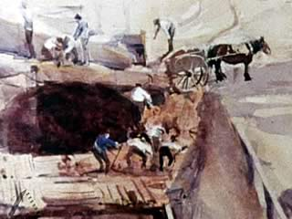 Death of a Workman In A Streeton Painting