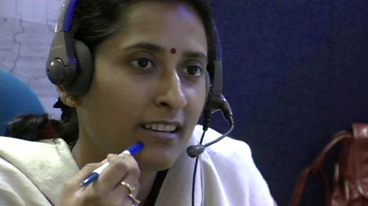 In a 21st century call centre, India.
